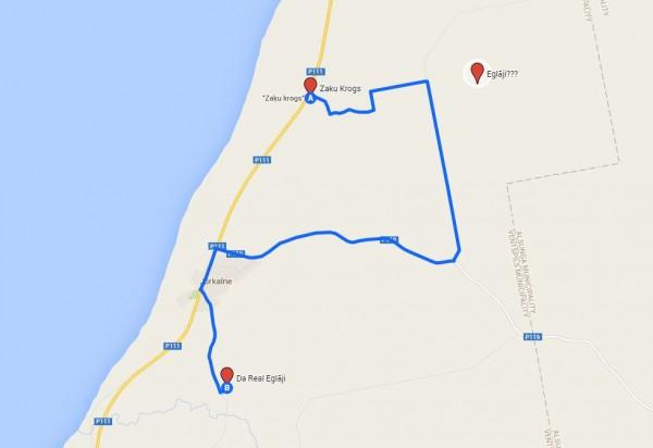 +12 km un ierašanās pēc 22:00